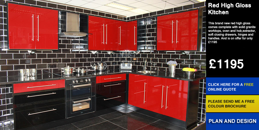 Cheap kitchens for sale uk for Cheap gloss kitchen units